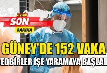 Photo of Güney'de 152 yeni vaka